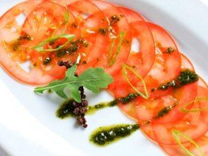 receta de carpaccio de tomate