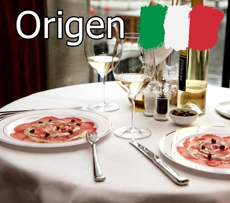 Origen italiano del carpaccio